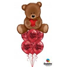 Big Teddy Valentine Hearts