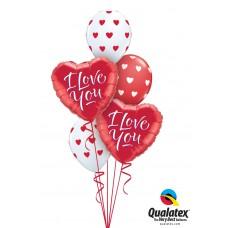 Red White Valentine Hearts