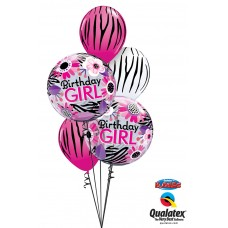 Birthday Girl Zebra Bouquet