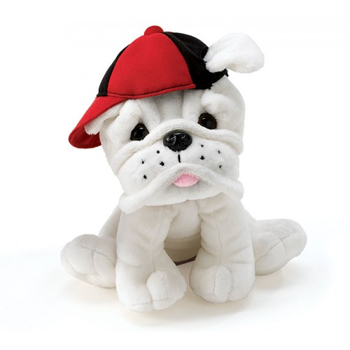 Plush White Bulldog